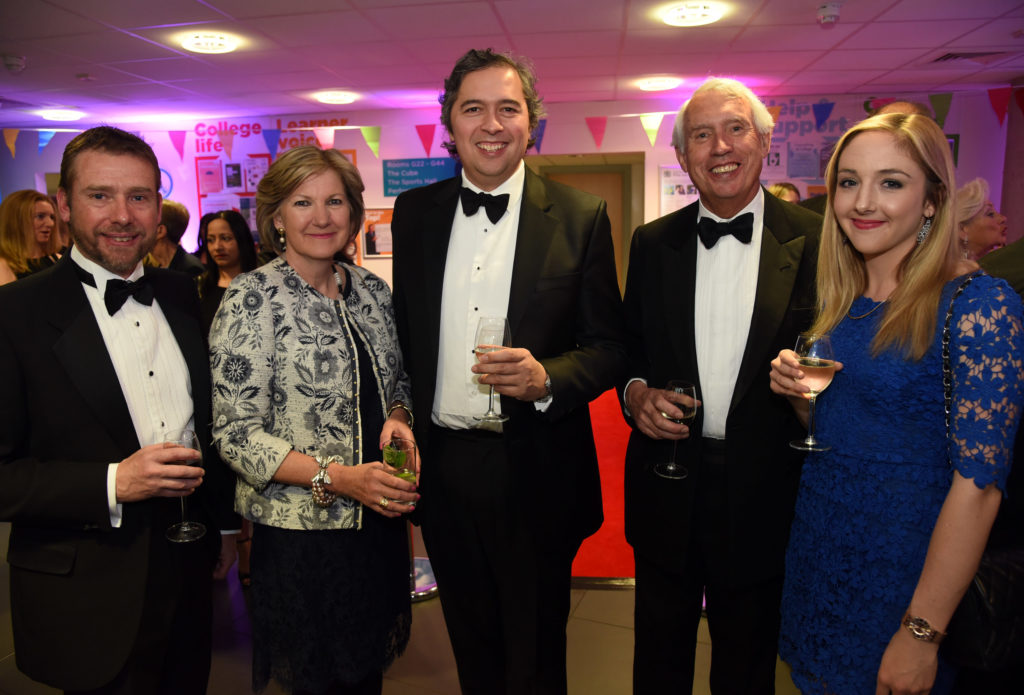 L>R Chris Nike, Deborah Puxley, Martin Taylor, James Puxley and Sarah-Lee Marchesi 170479 Pride of Bracknell Forest Awards 2017 - Pictures: Mike Swift