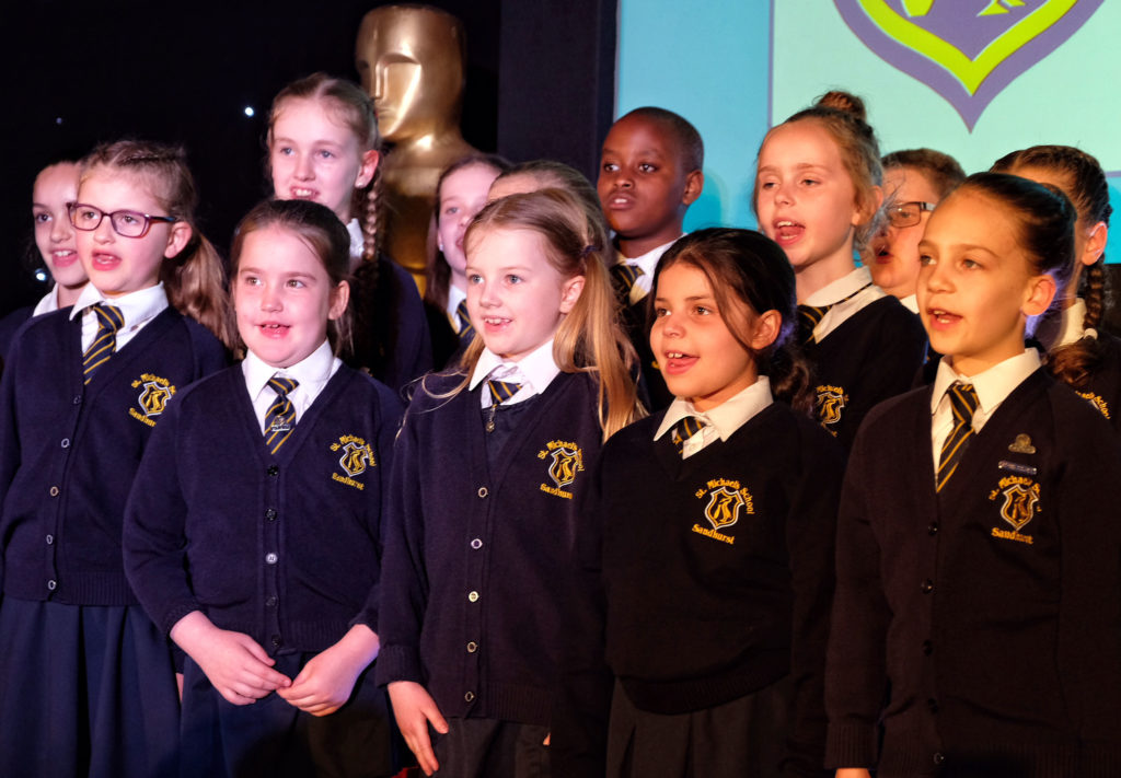 St. Michaels School Choir singing 180486 Pride of Bracknell Awards 2018 at Royal Military Academy, Sandhurst - Pictures: Mike Swift