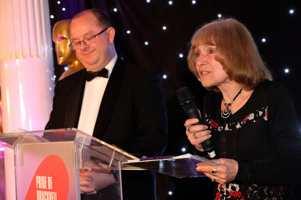 (190350) Clare bevan, Poet Laureate to Mayor Avin Finch. Pride of Bracknell Awards. Pictures by Mike Swift